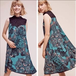 Anthropologie Maeve Butterfly Lace Swing Dress NWT